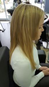 Haarverlängerung 2 farbig