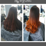 Flame Balayage in V-Form